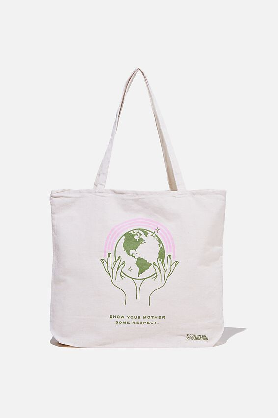 Typo Difference Tote Bag, SHOW YOUR MOTHER SOME RESPECT
