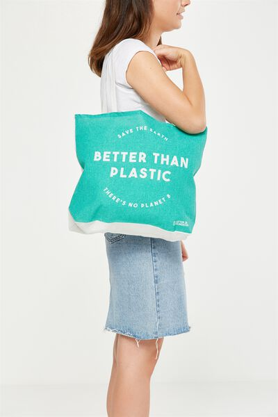 Cotton On Foundation Tote, BETTER THAN PLASTIC