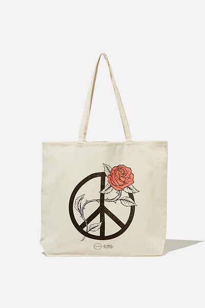 Pf Foundation Tote Bags, RSA PEACE ROSE