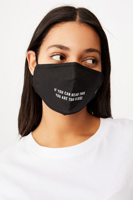 Foundation Face Mask Adults, TOO CLOSE