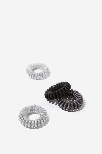Cof Twist 4 Pack, BLACK AND SILVER