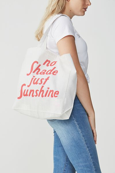 Typo Difference Tote Bag, NO SHADE