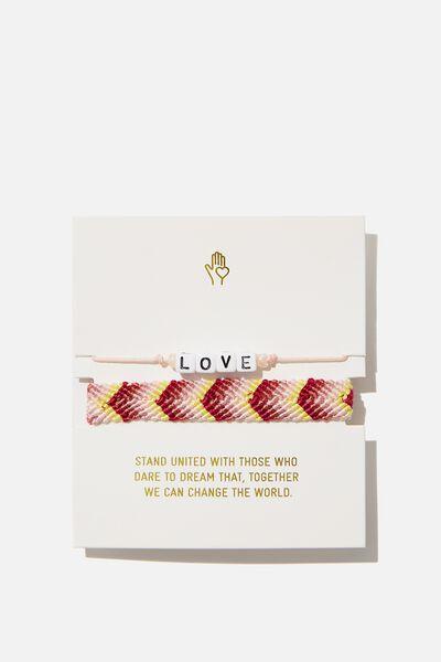 Online Exclusive Foundation Friendship Bracelets, SUMMER PINKS
