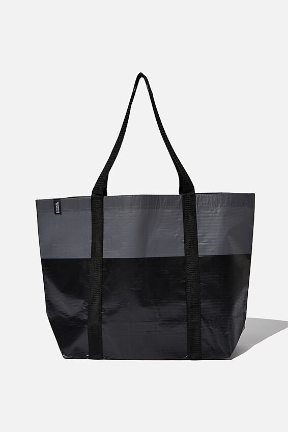 Rpet Cof Large Shopper, Black Tonal