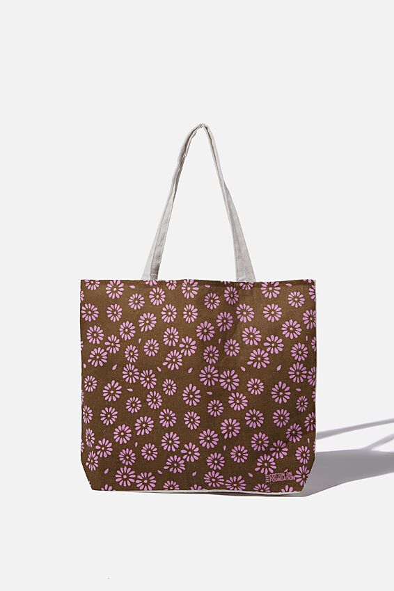 Typo Difference Tote Bag, STAMPED DAISY