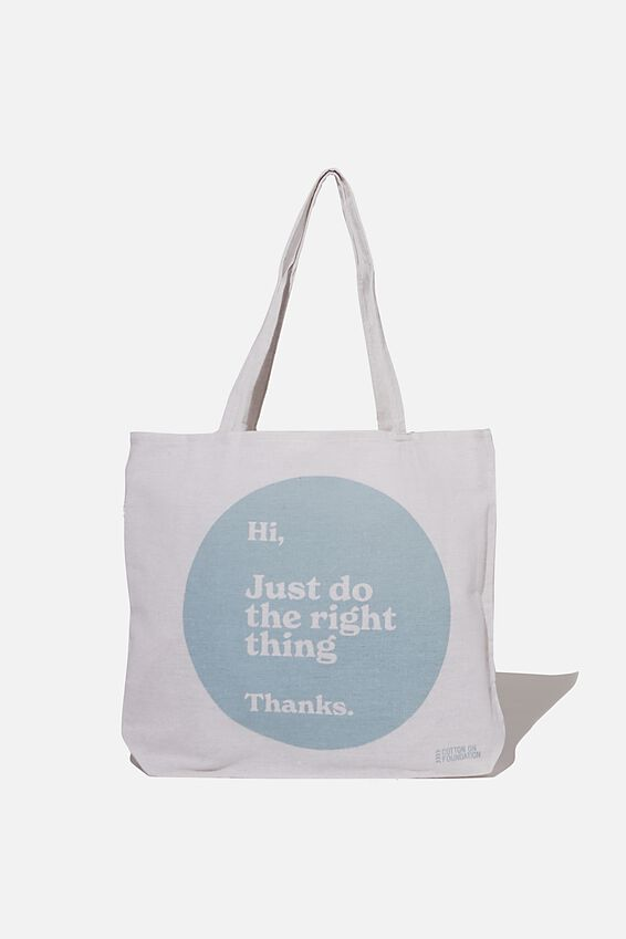Typo Difference Tote Bag, DO THE RIGHT THING
