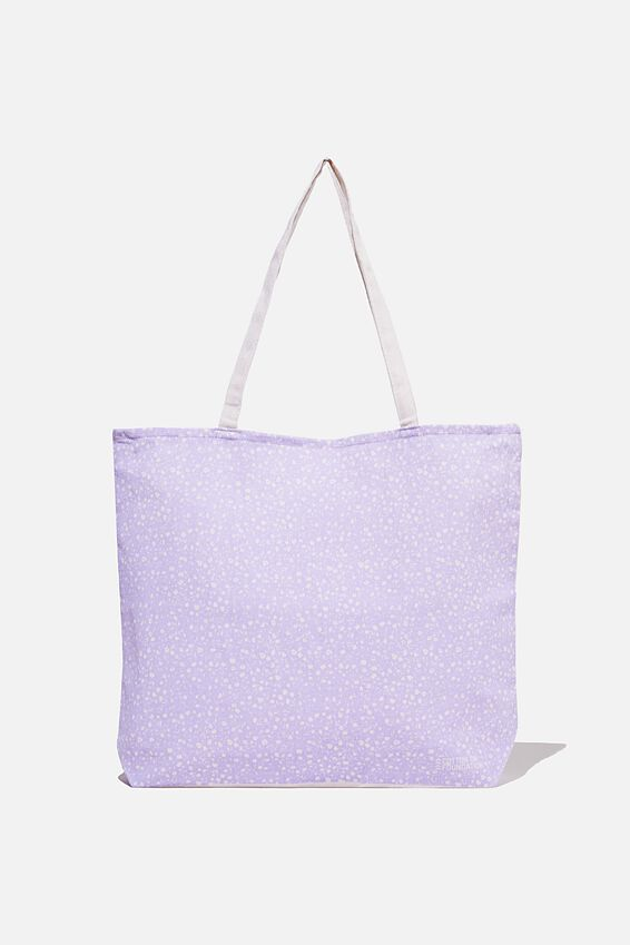 Typo Difference Tote Bag, LILAC FLORAL