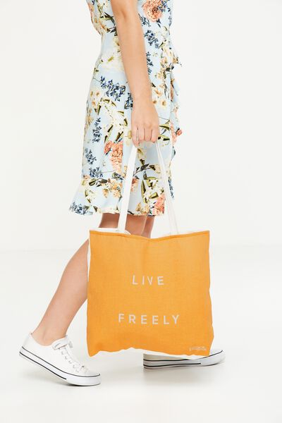 Body Tote Bag, LIVE FREELY