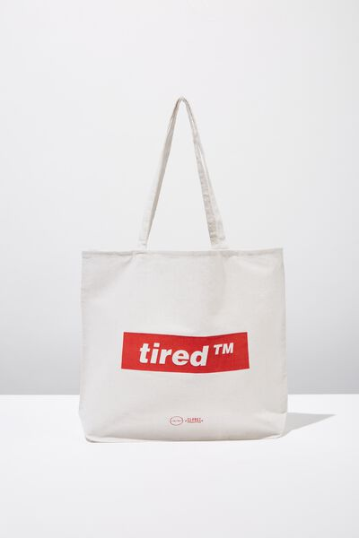 Pf Foundation Tote Bags, TIRED TM