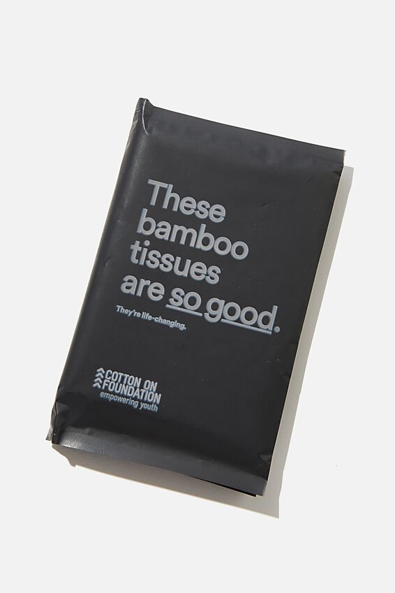 Foundation Bamboo Tissues, SLATE GREY SO GOOD