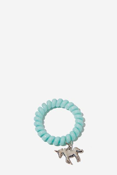 Coil Charm Bracelet, BLUE UNICORN