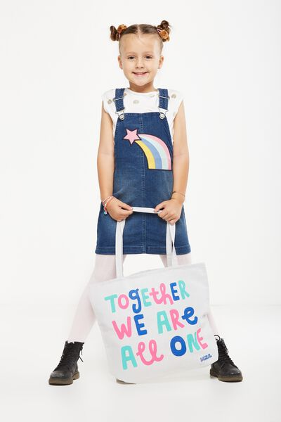 Foundation Kids Tote Bag, TOGETHER WE ARE ONE
