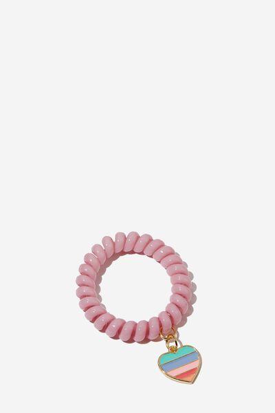 Coil Charm Bracelet, ZEPHYR HEART