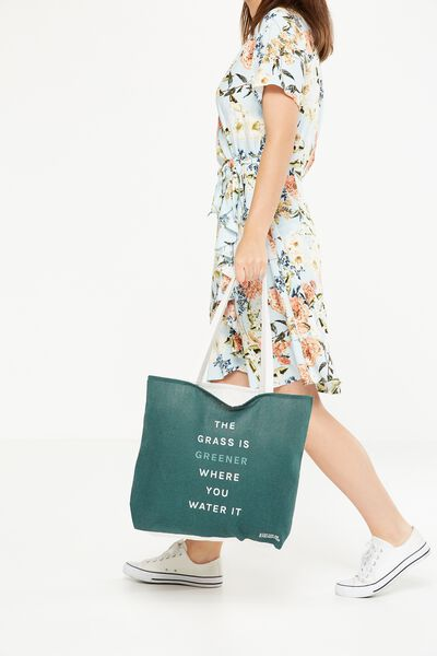Body Tote Bag, GRASS IS GREENER