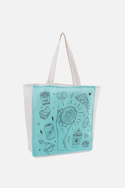Typo Difference Tote Bag, DONUT QUEEN