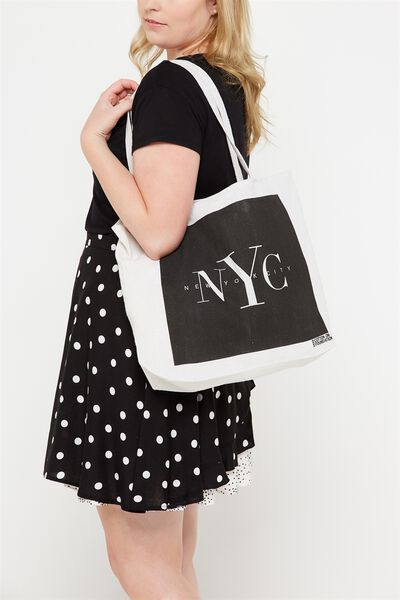 Cotton On Foundation Tote, NYC BLACK