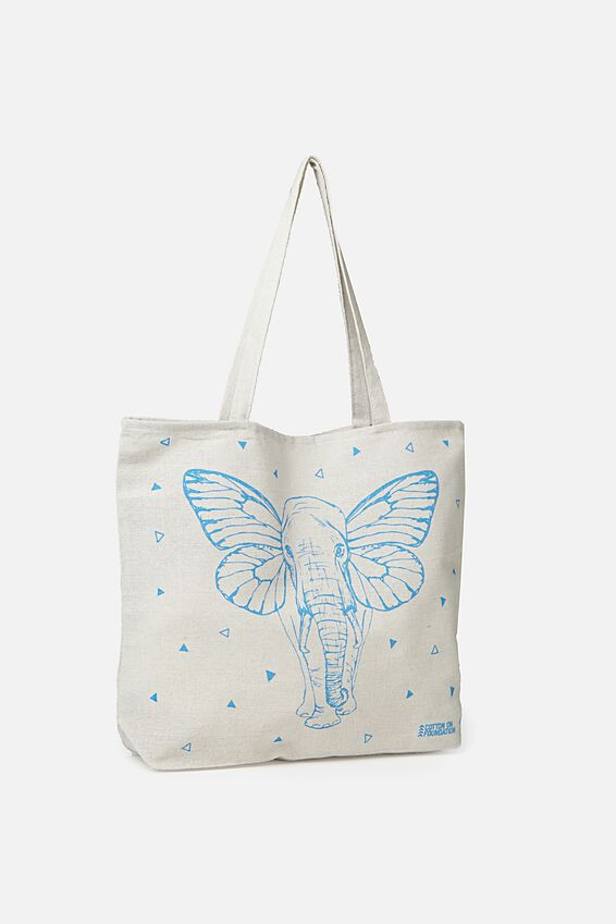 Typo Difference Tote Bag, ELEFLY