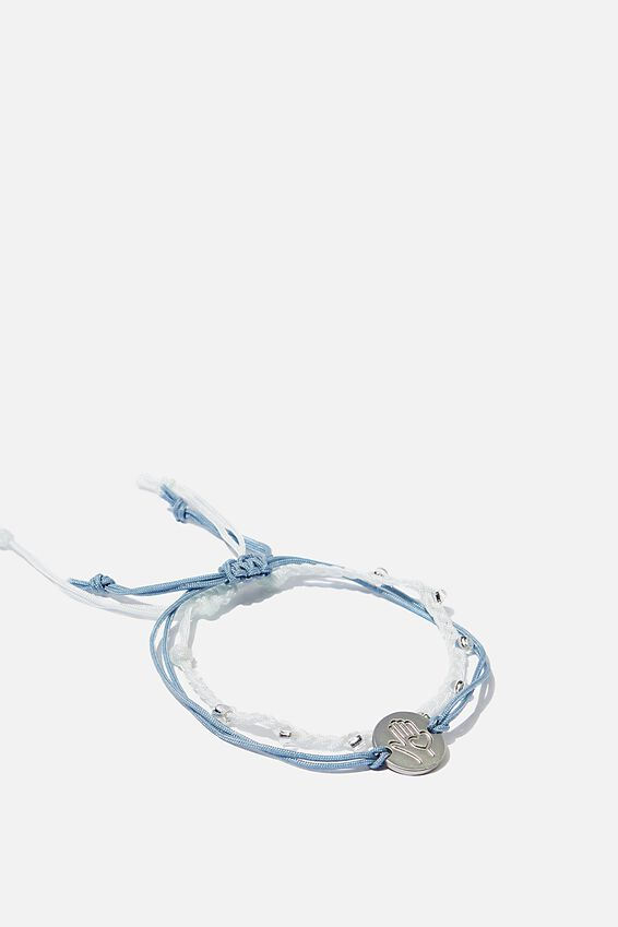 Online Exclusive Cof Charm Friendship Bracelets, BLUE HAND