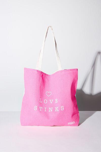 Cotton On Ladies Foundation Tote, LOVE STINKS