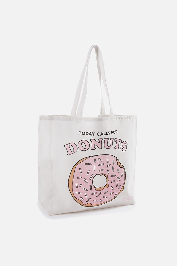 Typo Difference Tote Bag, TODAY CALLS FOR DONUTS