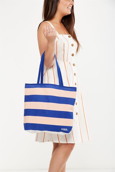 Cotton On Foundation Tote, BELLA STRIPE