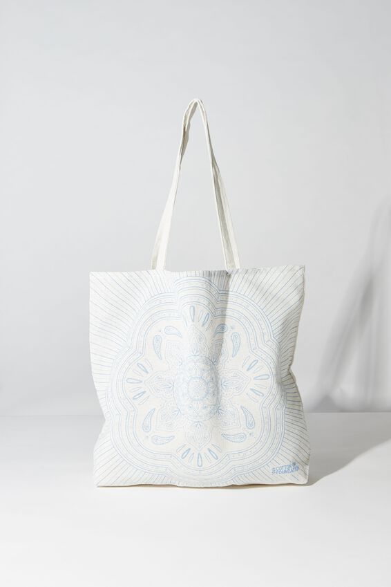 Typo Difference Tote Bag, WHITE MANDALA