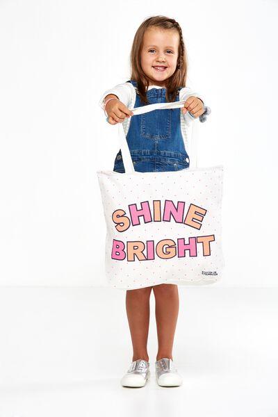 Foundation Kids Tote Bag, SHINE BRIGHT