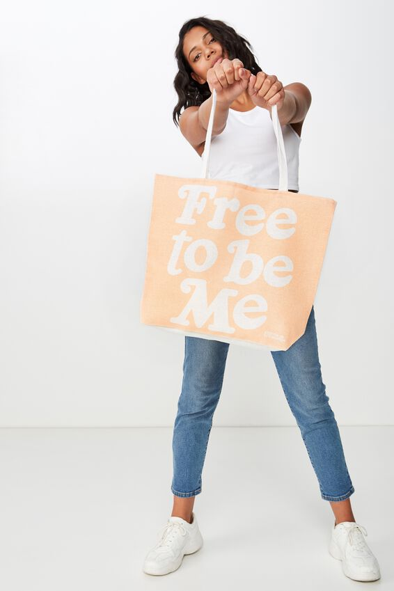 Typo Difference Tote Bag, FREE TO BE ME