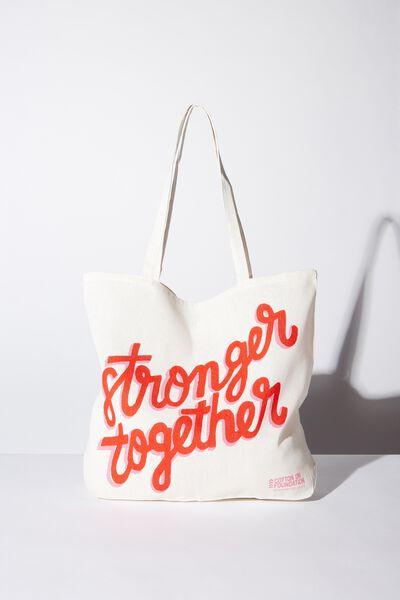 Foundation Kids Tote Bag, STRONGER TOGETHER
