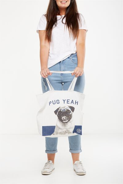 Typo Difference Tote Bag, PUG YEAH