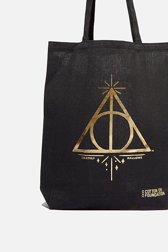 Foundation & Friends Tote Bag, DEATHLY HALLOWS