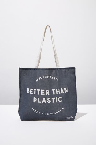 Cotton On Ladies Foundation Tote, BETTER THAN PLASTIC