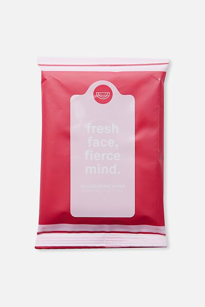 The 100% Difference Cleansing Wipes, RED PINK /WATERMELON