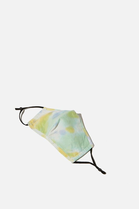 Foundation Face Mask Adults, AQUA GREEN TIE DYE