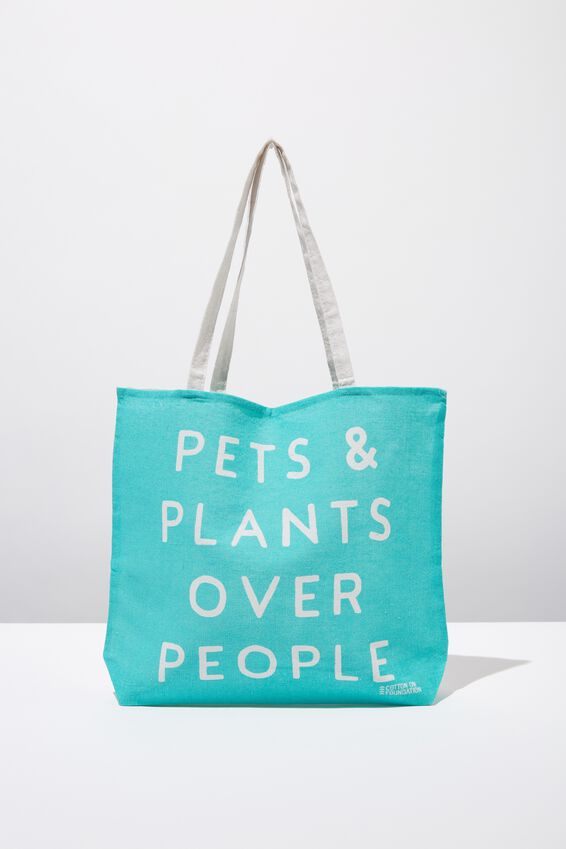 Typo Difference Tote Bag, PETS & PLANTS