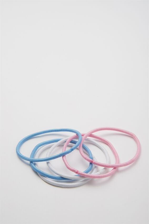 Typo Difference Boxed Hair Ties, STRIPE