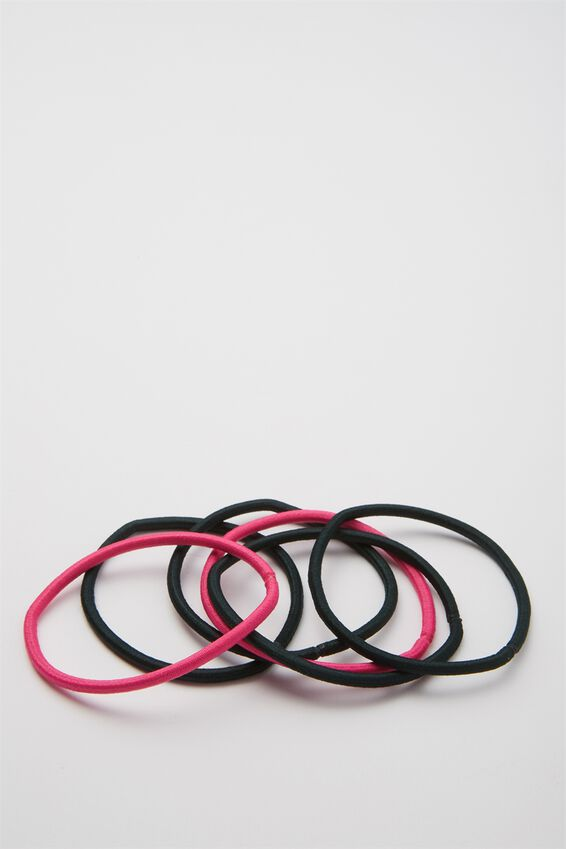 Typo Difference Boxed Hair Ties, WATERMELON