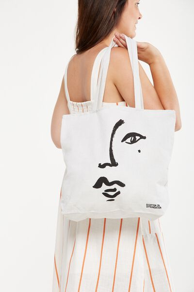 Cotton On Foundation Tote, FACE