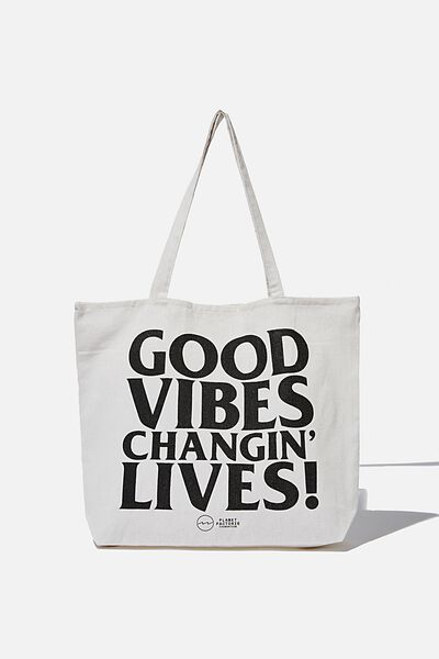 Pf Foundation Tote Bags, GOOD VIBES