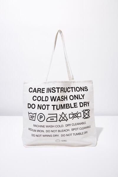 Pf Foundation Tote Bags, CARE LABEL