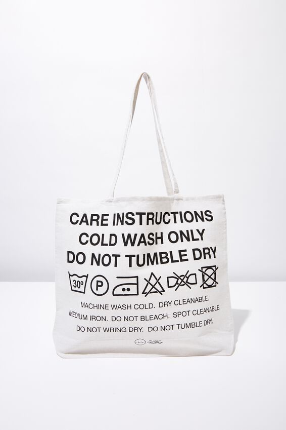 Pf Foundation Tote Bags, CARE LABEL