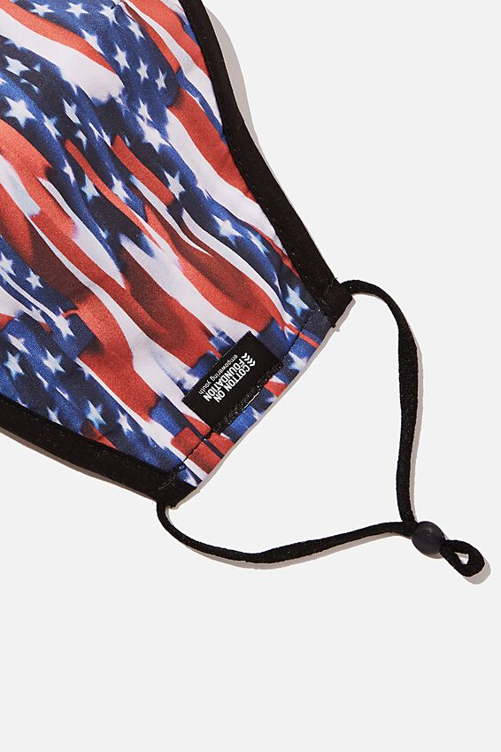 Foundation Face Mask, USA FLAG
