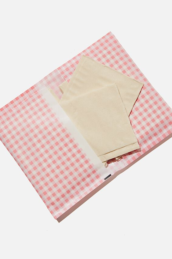 Foundation Bamboo Tissues, PINK GINGHAM