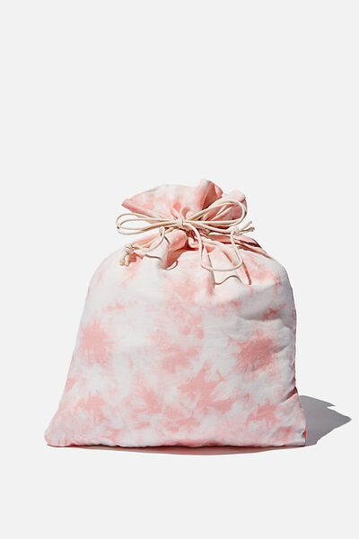 Foundation Medium Gift Bag, PINK TIE DYE