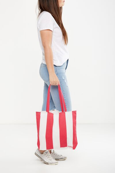 Cotton On Foundation Tote, LANA STRIPE