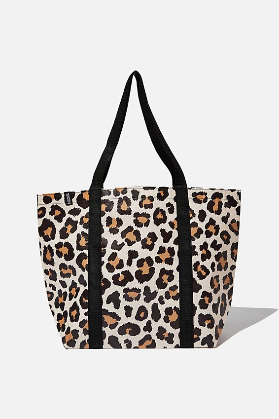 Foundation Recycled Large Shopper, Leopard
