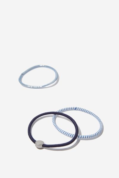 Juliet Band Pack, NAVY SILVER CIRCLE