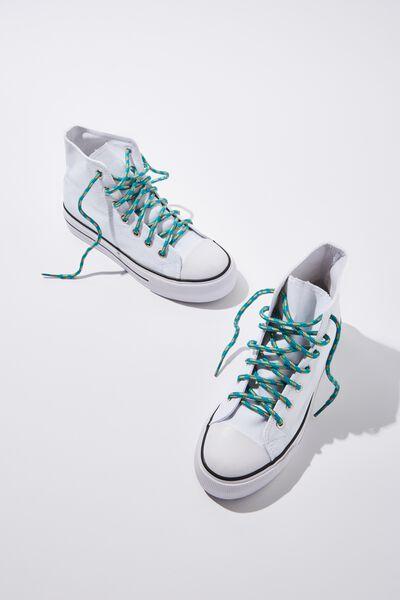 Cof Shoelaces 52 Inch, BLUE OUTDOOR