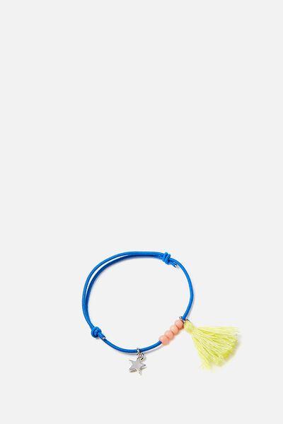 Pappy Charm Bracelet, STAR ELECTRIC BLUE