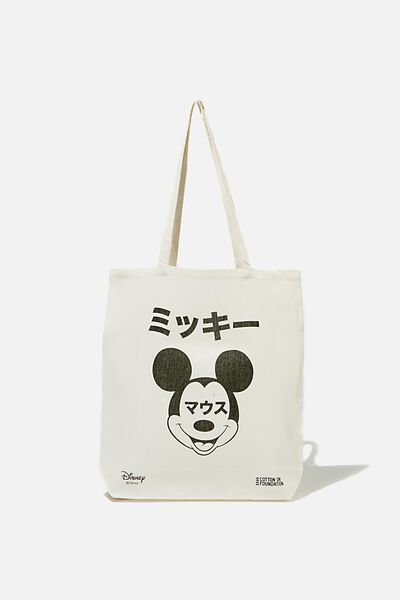 Foundation & Friends Tote Bag, MICKEY TEXT